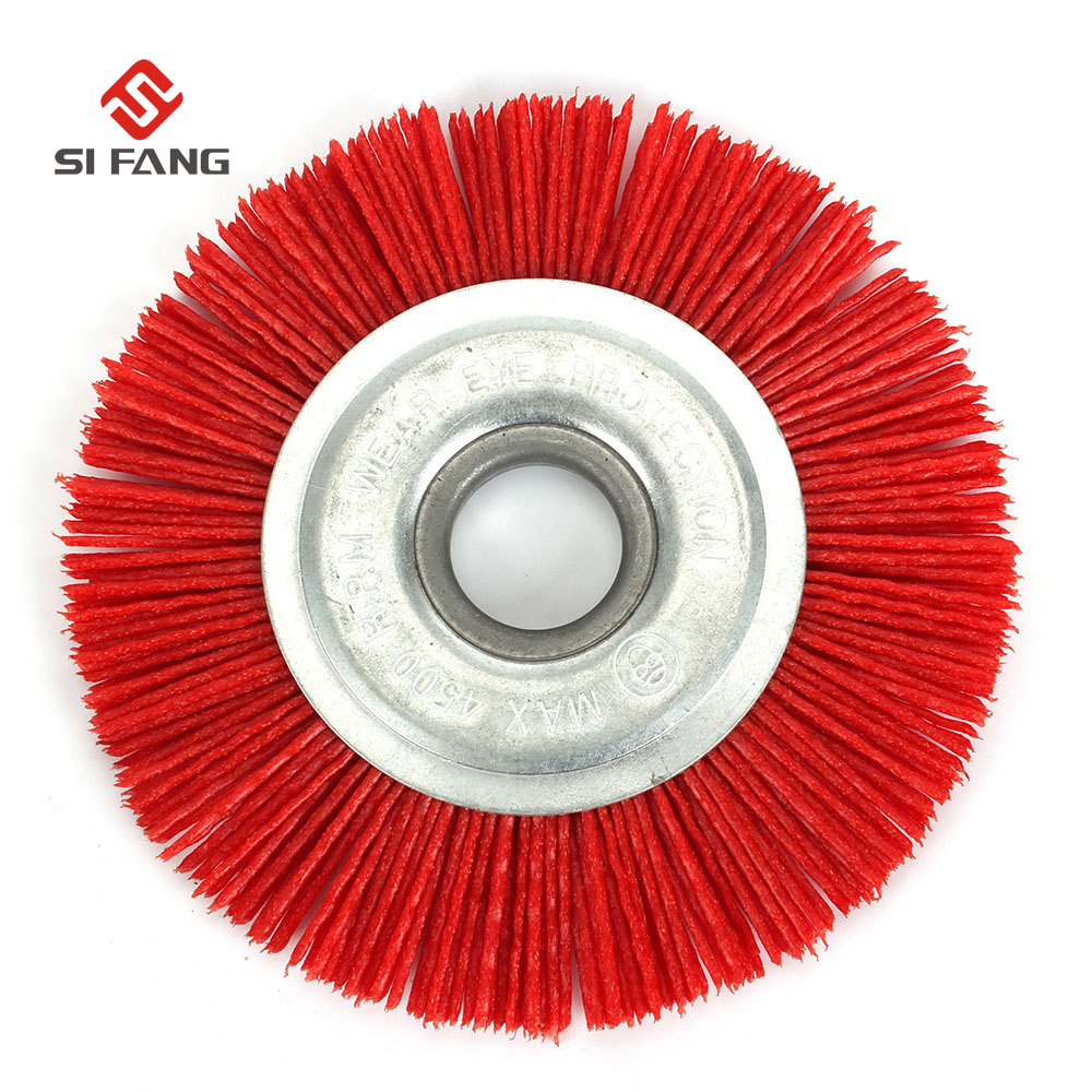 100mm Nylon Wheel Brush Abrasive Wire Grinding Polishing Brush Bench Grinder For Wood Furniture Metal