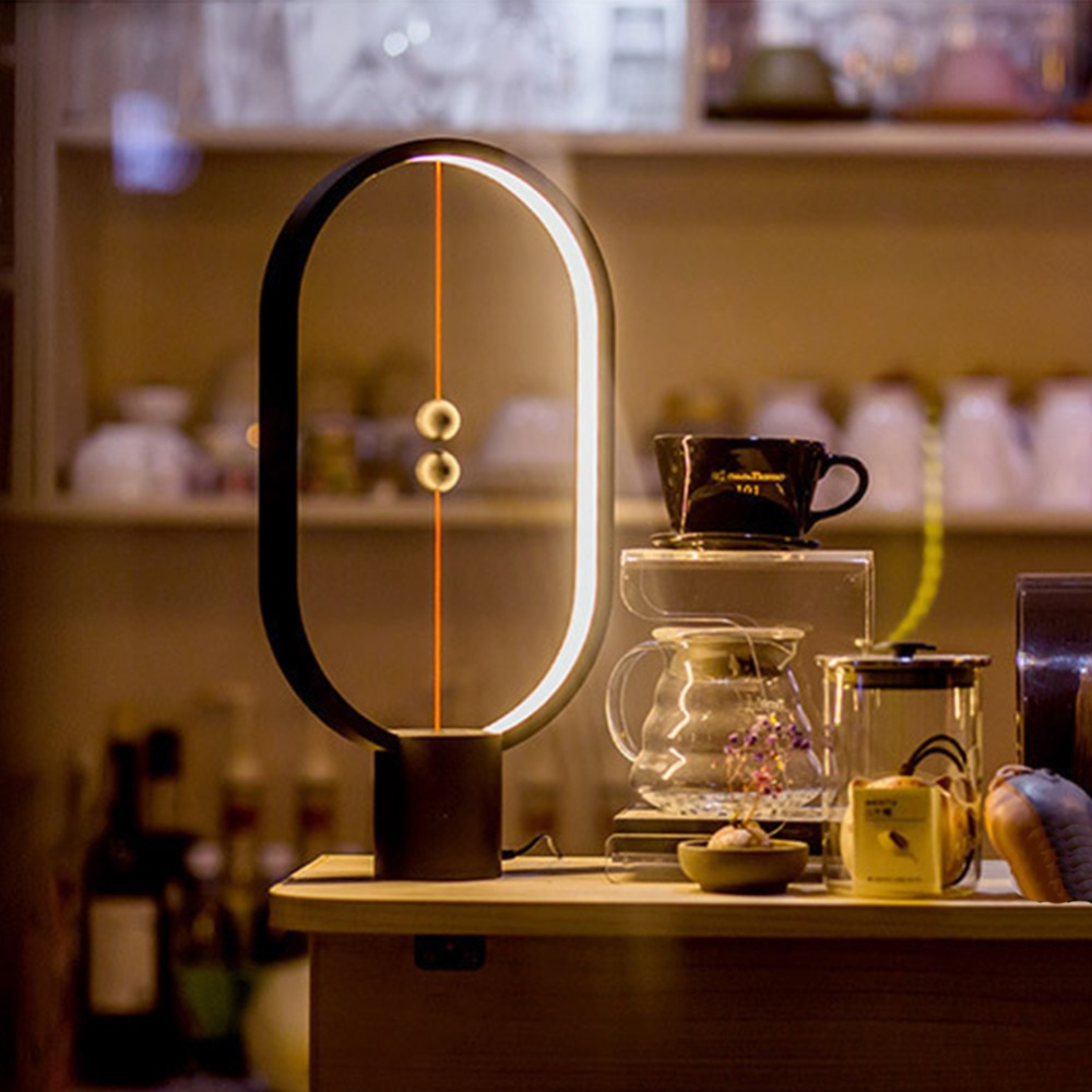 Led Night Lights Nice Balance Lamp Led Night Light Indoor Decoration Abs Material Lovely Desk Light 48pcs Leds Brightness Night Light Usb 100% Original