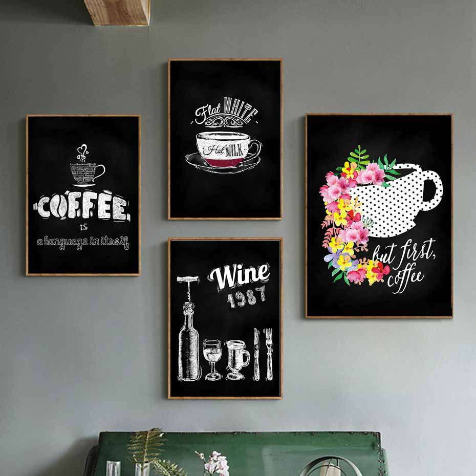 Coffee Decor Kitchen Wall Art