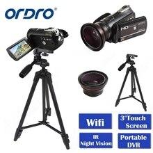 ORDRO HDV-D395 Portable Camcorders Night Vision Full HD 1080P 18X 3.0″ Touch Screen Digital Video Camera Recorder DV Wifi