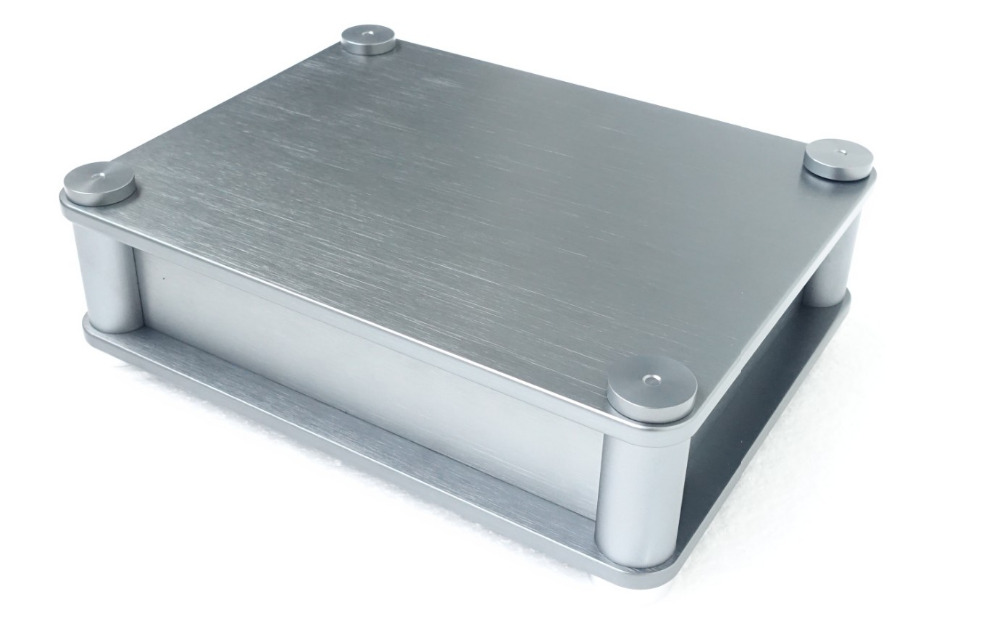 New BZ2207T round corners power amplifier aluminum chassis enclosure for preamp PSU 3206 amplifier aluminum rounded chassis preamplifier dac amp case decoder tube amp enclosure box 320 76 250mm