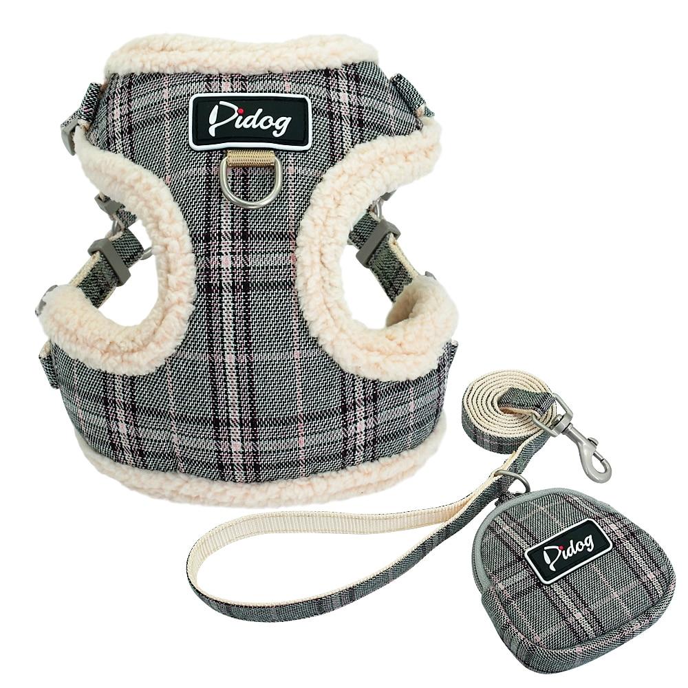 Diaper - Soft Pet Dog Harnesses Vest No Pull Adjustable Chihuahua Puppy Cat Harness Leash Set For Small Medium Dogs Coat Arnes Perro