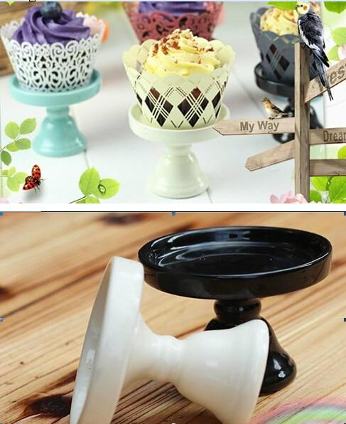 mini ceramic Cake pan /cake stand wedding dessert plate/cupcake stand(7.4x6cm & mini ceramic Cake pan /cake stand wedding dessert plate/cupcake ...