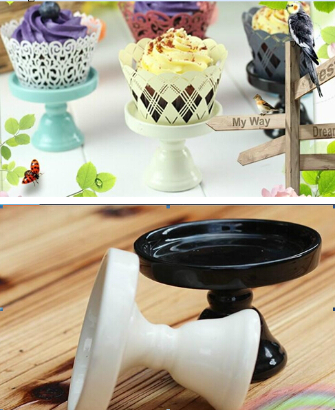 mini ceramic Cake pan /cake stand wedding dessert plate/cupcake ...