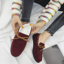 2018 Women Plush Flats Loafers Woman Fashion Low-cut Slip-on Casual Shoes Autumn Winter Ladies Walking Brand Design Promotion piergitar fabric printed traditional hand drawn design women loafers women casual and party shoes fashion slip on woman flats