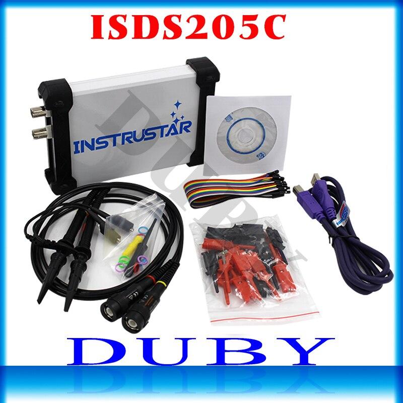 ISDS205C versão de Atualização MDSO-LA PC USB Analógico osciloscópio Virtual 16 Canais Logic Analyzer Bandwidth 20 M Circuito análise FS