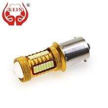 цена на KEIN 2PCS ba15s LED P21W Bulb 1156 38smd auto car light 1156A 4014 Reverse Light Brake Turn Signal S25 DRL Signal Lamp 12V white