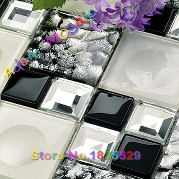 Lieblich Schwarz Weiß Bad Wandfliese 3D Penny Runde Mosaik Fliesen Muster Glasmosaik Küche  Backsplash Fliesen Spiegel U Bahn Ziegel In Schwarz Weiß Bad Wandfliese 3D  ...