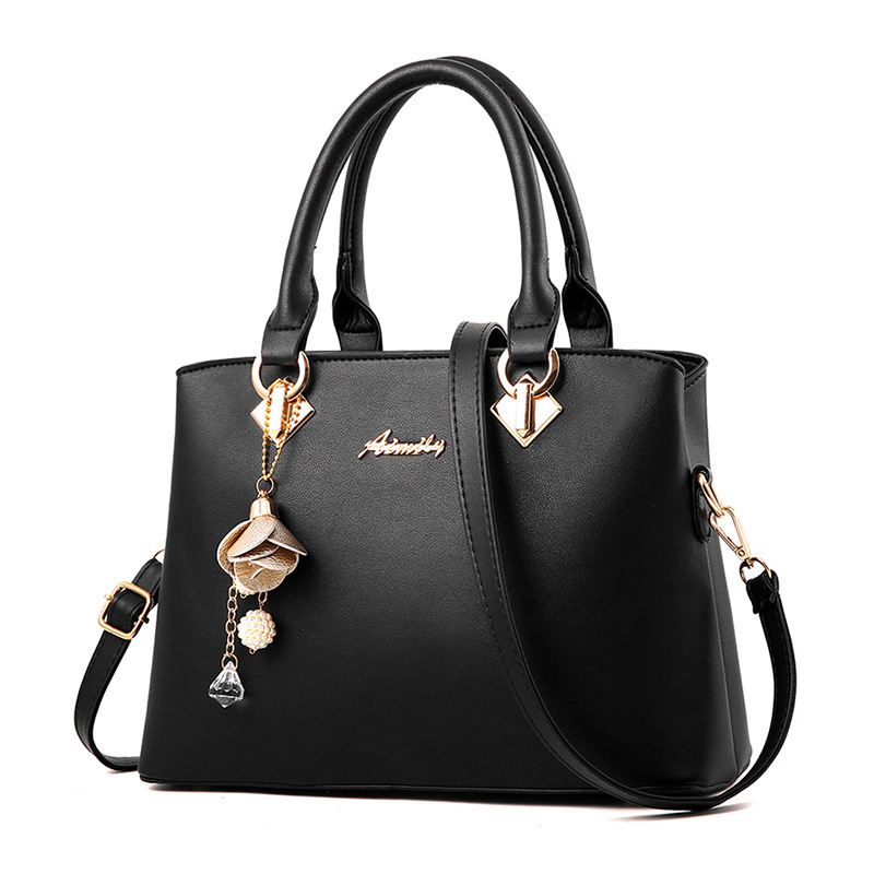 Women Bags Fashion Vintage Designer Messenger PU Leather Handbag High Quality Casual Shoulder Top-Handle Totes black Korea style
