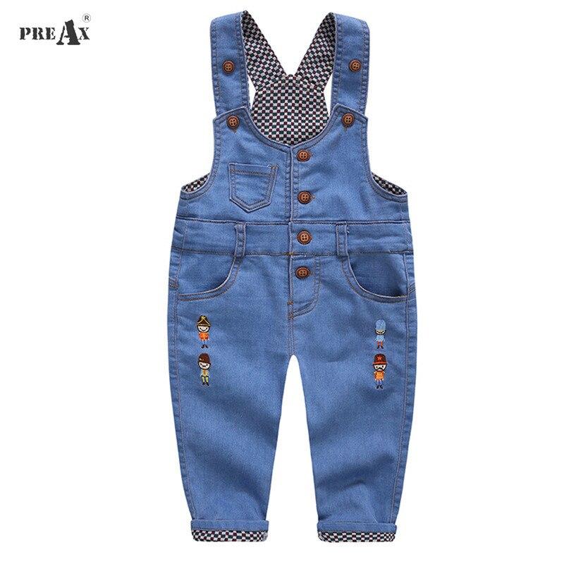 2018 Spring New Children Jeans Overalls Baby Boys Cartoon Denim Pants Kids Children's Suspenders Trousers Kids Children Clothing