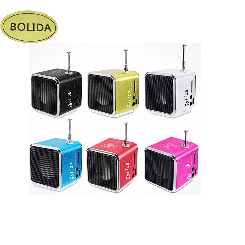 TDV26 Portable Radio FM Receiver Mini Speaker Digital LCD Sound Micro SD/TF Music Stereo Loudspeaker For Laptop Mobile Phone MP3