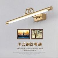 Luminaria Copper Mirror Headlights American Bathroom LED Cabinet Lamp Nordic Makeup Hanglamp Home Deco Wall Sconce Light Fixture