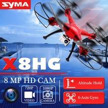 Asli SYMA Profesional UAV X8HG 2.4G 4CH 6 Axis RC helikopter Drone 1080 P 8MP HD Kamera Quadcopter Pesawat Model Hadiah mainan