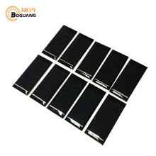 Фотография Boguang 10pcs 0.5v/0.12w Epoxy resin Polycrystalline silicon solar panel cell module DIY kit for 0.5v motor toy car