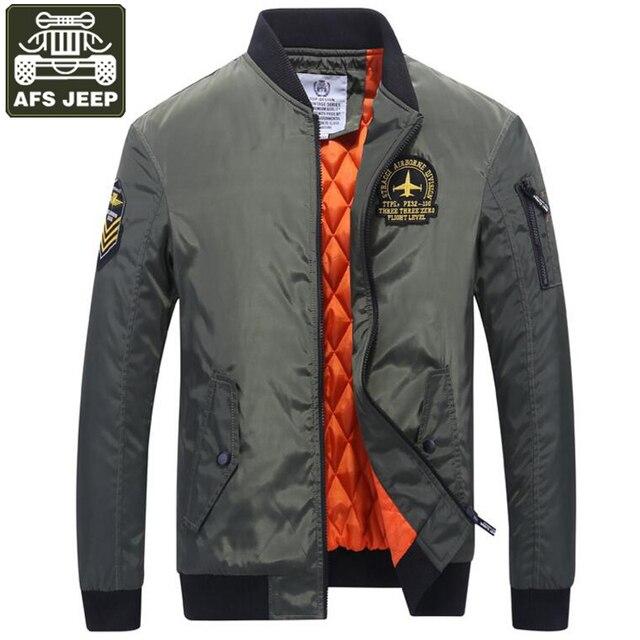 AFS JEEP Pria Jaket Musim Dingin Merek Jaket Bomber Army Military Mens  Musim Dingin Jaket Padat efe91f4fa0