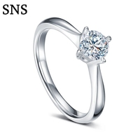 Luxury Tiny Natural Real Diamond Engagement Ring Classic 4 Prong Halo Setting 14k White Gold