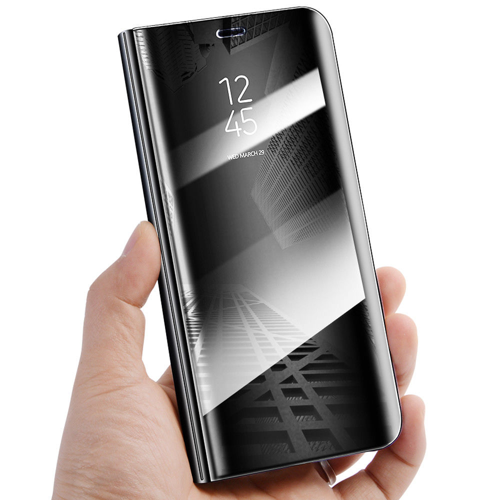 wholesale dealer 19da0 ddb37 US $6.9 |For Samsung Galaxy A6 J6 Plus 2018 Flip Smart Case Clear View  Mirror Stand Cover For samsung A6 J6 PLUS 2018-in Flip Cases from  Cellphones & ...