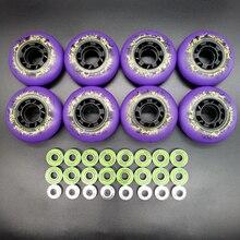 Роликовые колеса, колеса для скейта 85 A, фиолетовые колеса 72 мм 76 мм 80 мм ABEC-9