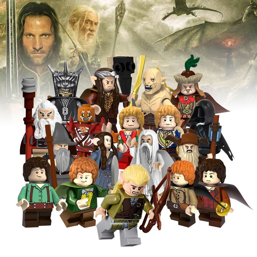 The Lord of the Rings Figures Frodo Ironfoot Dain Elf prince Nazgul Brick Building Block Compatible Legoingly Toys Children Gift