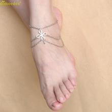 Diomedes Newest Creative New Lucky Knot Shape Anklets Diomedes Women Beach Barefoot Sandal Foot Jewelry Summer Trendy Anklets