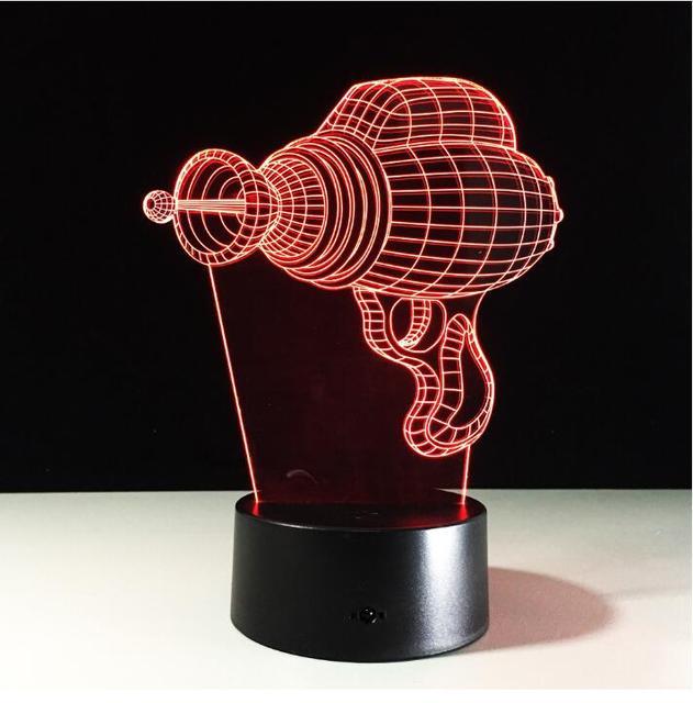 LED Elektrische Bohrer Modell Lampe 3D Hammer Bohrmaschine Illusion Licht  Acryl Touch Nacht Lampe Für Schlafzimmer