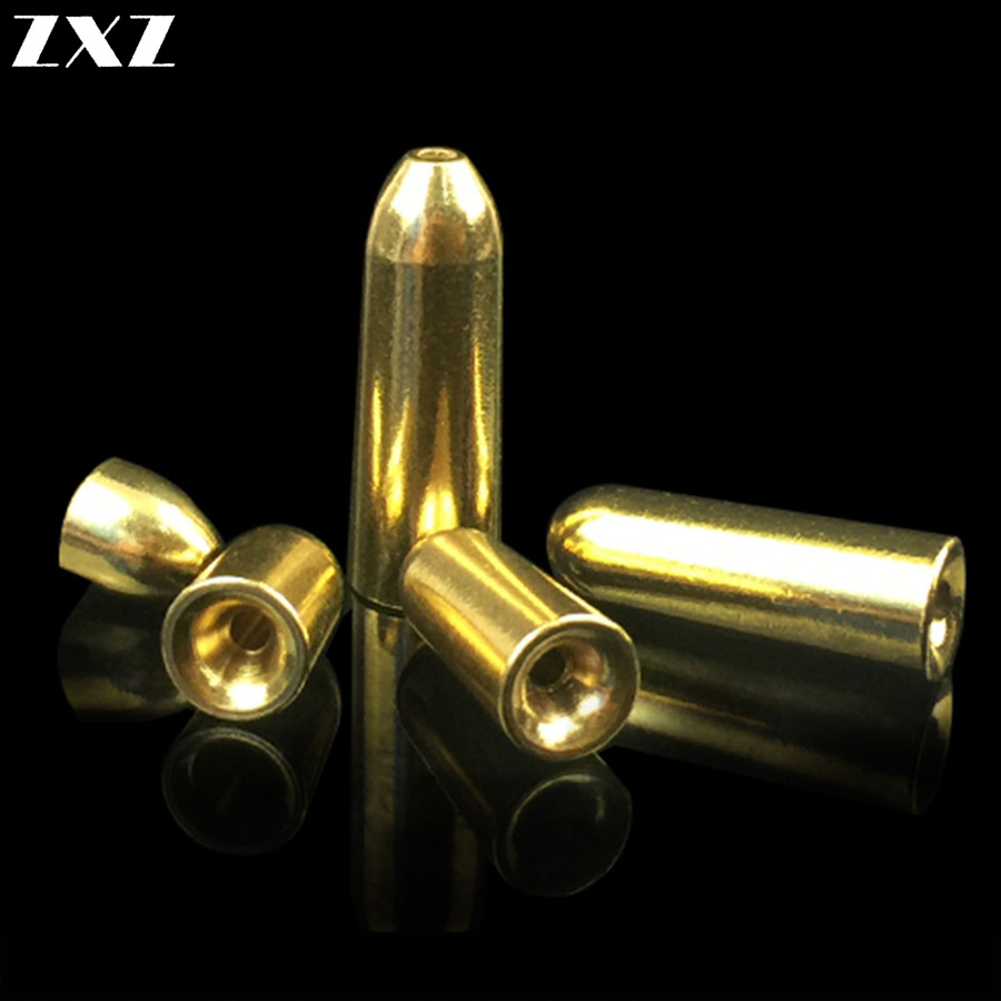 50pcs/lot Fishing Bullet Weights Fast Sinking DIY Lure Copper Lead Sinker Weights 1.8/3.5/5/7/10g Fishing Tackle Accessories