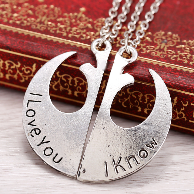 Star Wars Rebel Insignia Love couples Necklace wholesale friendship gift Pendant