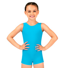 Speerise Kids Tank Biketard Sleeveless Girls Unitard Spandex Dancewear Gymnastics Bodysuit Shorty Bike Toddler Ballet Leotard