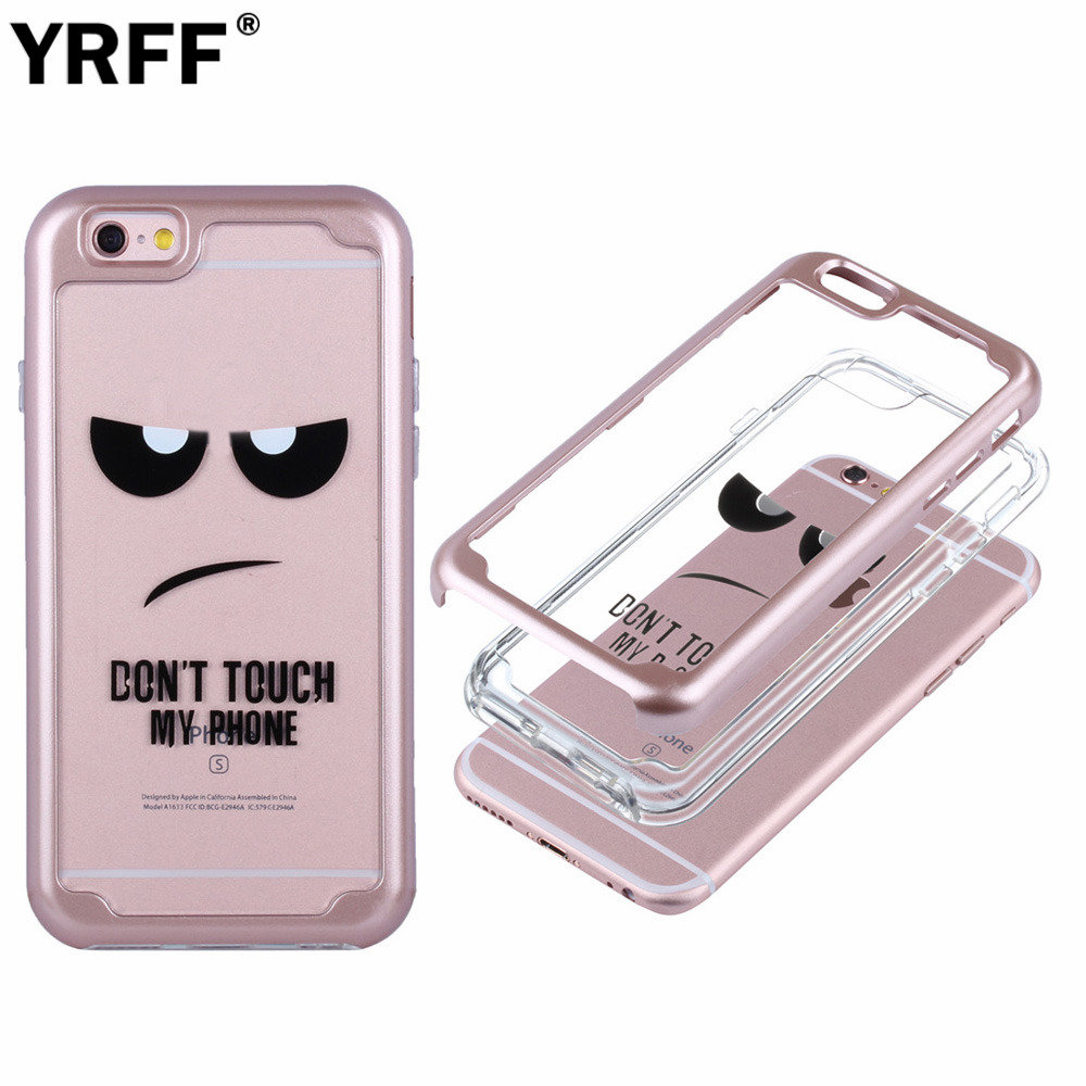 "New 2 in 1 ones Electroplate bumper Frame mobile phone case for iphone 6 6s 7 plus back cover ""Don't move my phone"" phone case"