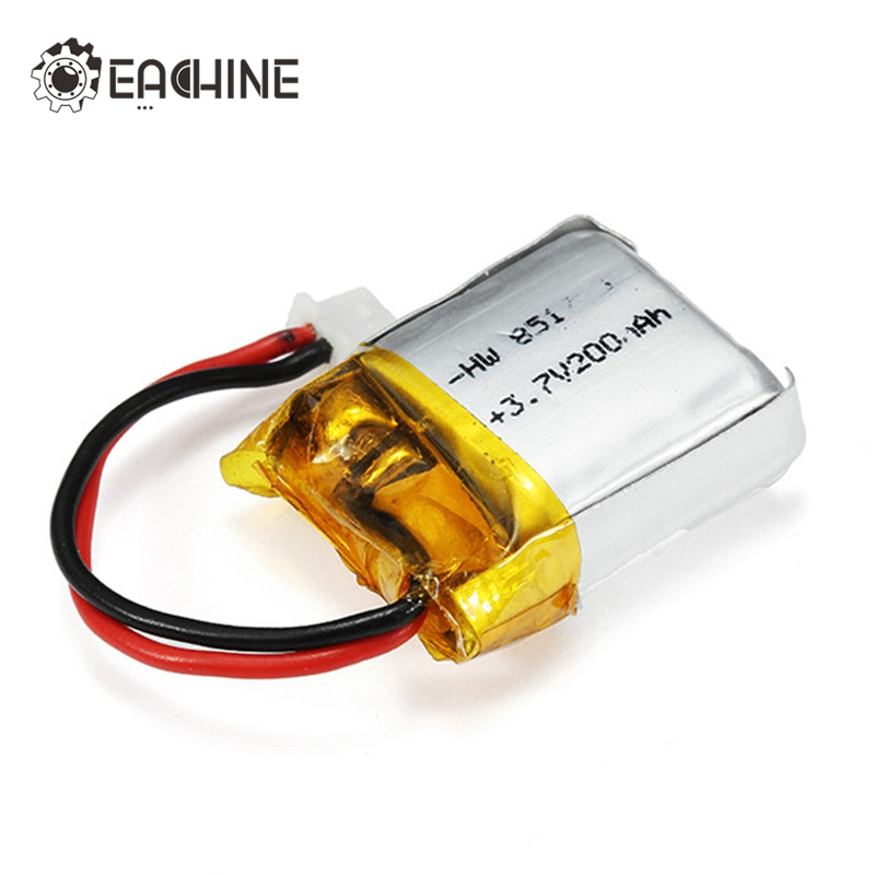 Eachine E012 RC Quadcopter Spare Parts 3.7V 200mAh Li-Po Lipo Battery Rechargeable for RC Drones FPV Quadcopter Power Charging original accessories mjx b3 bugs 3 rc quadcopter spare parts b3 024 2 4g controller transmitter