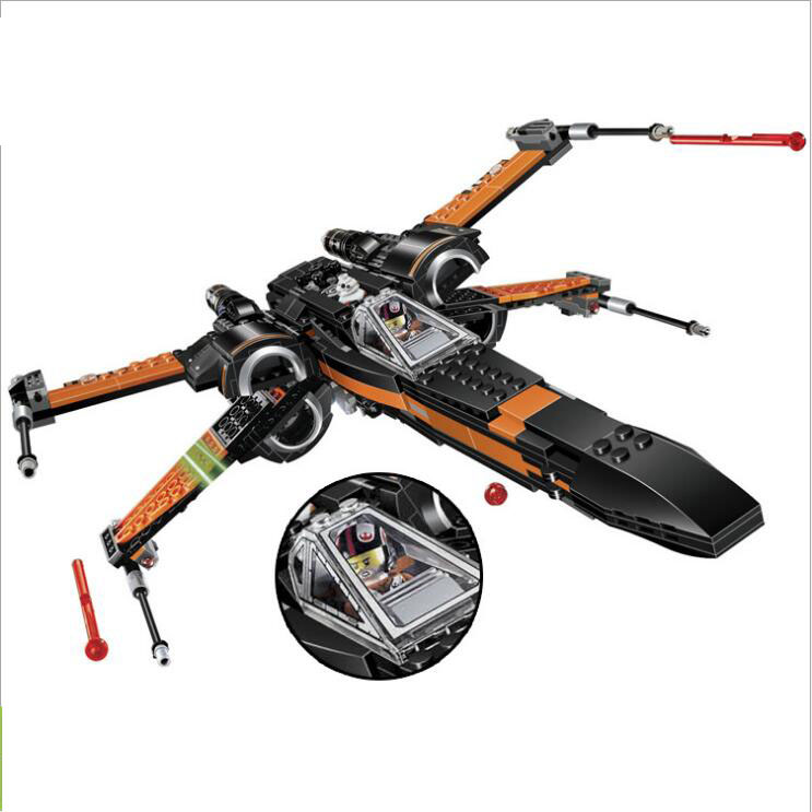 05004 748pcs Star Wars First Order Poe\'s X-wing Fighter Starfighter Building Block Compatible 75102 Brick Toy цена