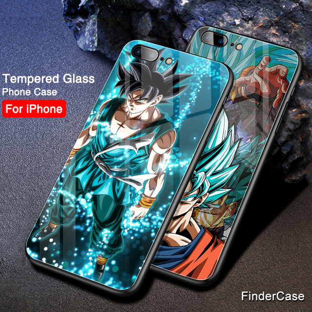 Dragon Ball Z Super Saiyan Glass Cover Case for iphone Models