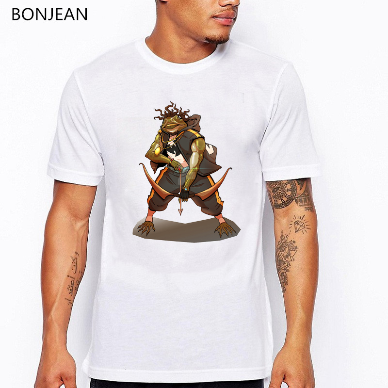 New design Funny t shirt men Punk Frogs Cartoon print tee shirt hommer white o neck short sleeve t shirt camisetas hombre in T Shirts from Men 39 s Clothing