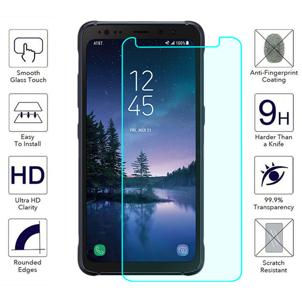 2pcs/lot For Samsung Galaxy S8 Active Tempered Glass