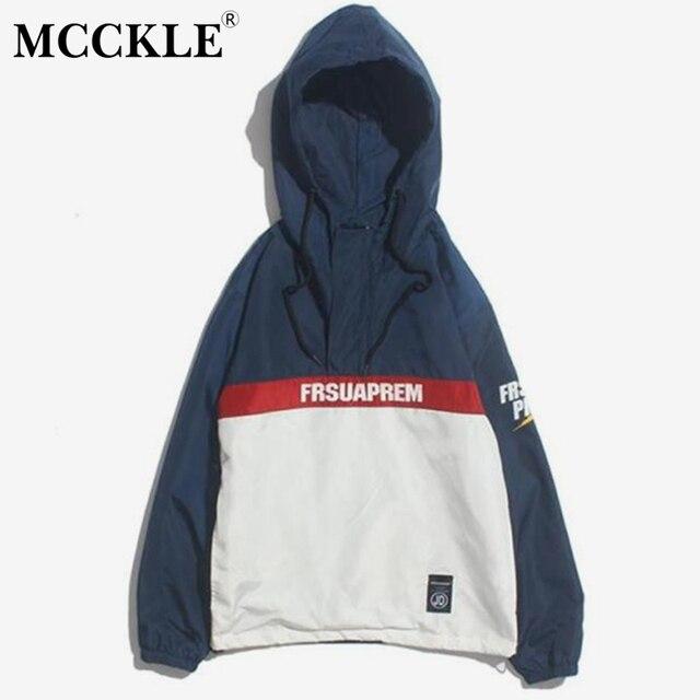 a42cc5aedd12 MCCKLE Pullover Tracksuit Hoodie Jackets 2018 Spring Hip Hop Half Zip  Windbreaker Jacket Coat Fashion Streetwear for men