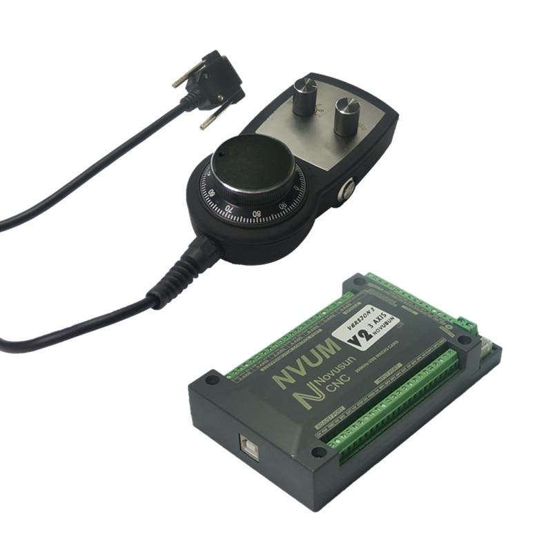 цена на 3axis USB interface Mach3 Control Card manual pulse hand wheel for CNC milling Machine
