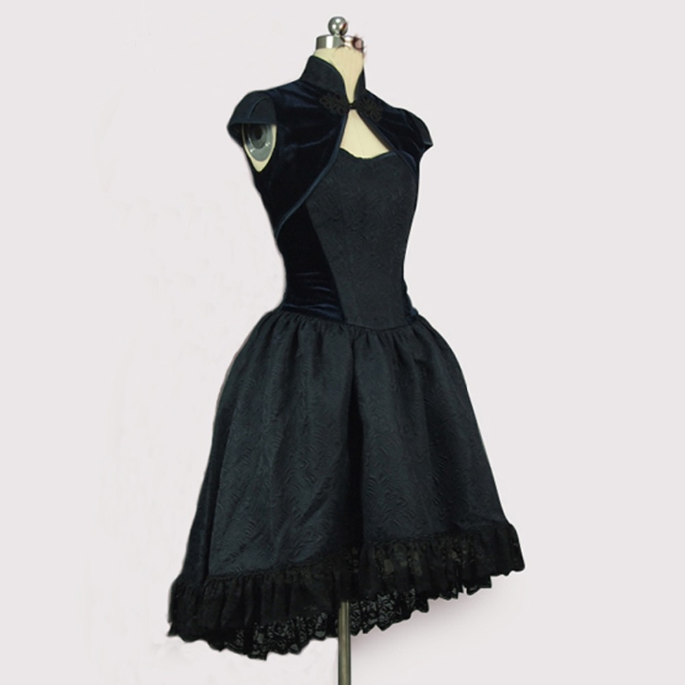 women Summer office dress vintage lolita dress Female Velvet bandage dress two piece outfits Jacket strapless party tutu dress