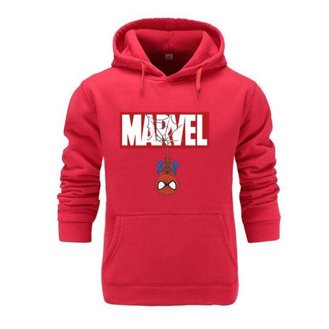 Marvel Hoodies Men Brand 2019 New Spiderman Funny Long Sleeve Hooded Sweatshirt Mens Hoodie Tracksuit Sweat Coat Casual homme 5