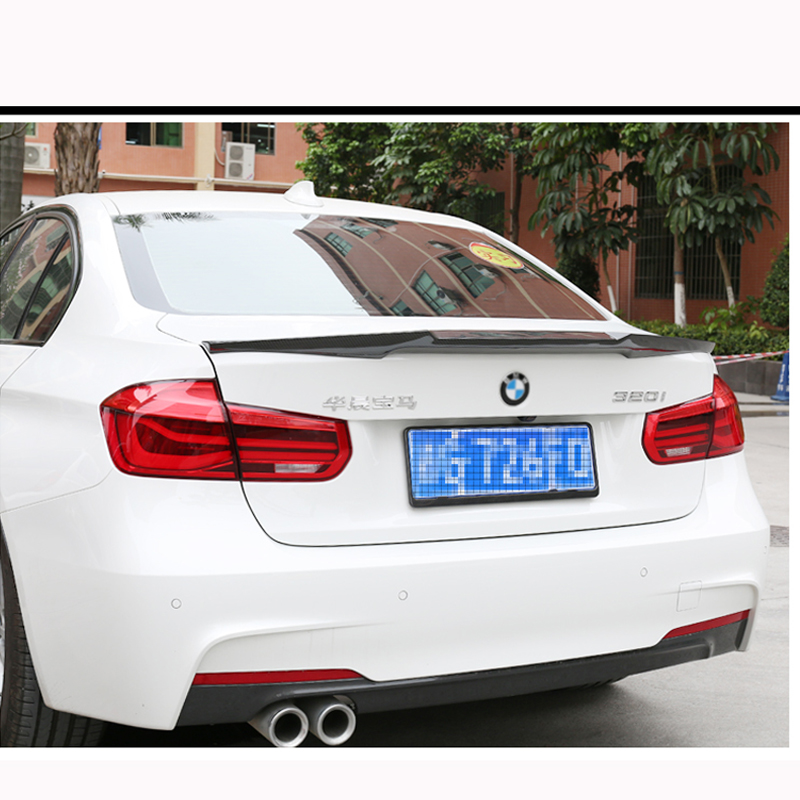 F30 M4 Style Spoiler Carbon Fiber Rear Trunk Back Wing For BMW 3 Series F30 F80 M3 2012 - 2017 4-Door Sedan 316i 318i 320i 328i original wotofo serpent mini rta tank three colors vaporizer electronic cigarette atomizer airflow top fill fit to box mod vape
