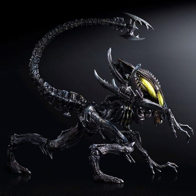 1pc 26cm PLAY ARTS ALIEN Action Figure PVC Super Heroes Model Toys for friends Doll Collection Gadget Kids Adult Birthday Gift alien queen pvc action figure model toy cartoon movie alien collection diy display toys birthday