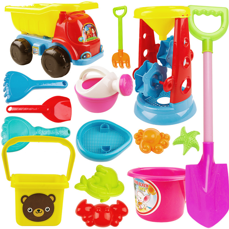 Beach Toys For Children Sand Set Sand Bucket Game Sea Sand Rake Shovel Summer Mold Baby Bath Toy Outdoor Toy