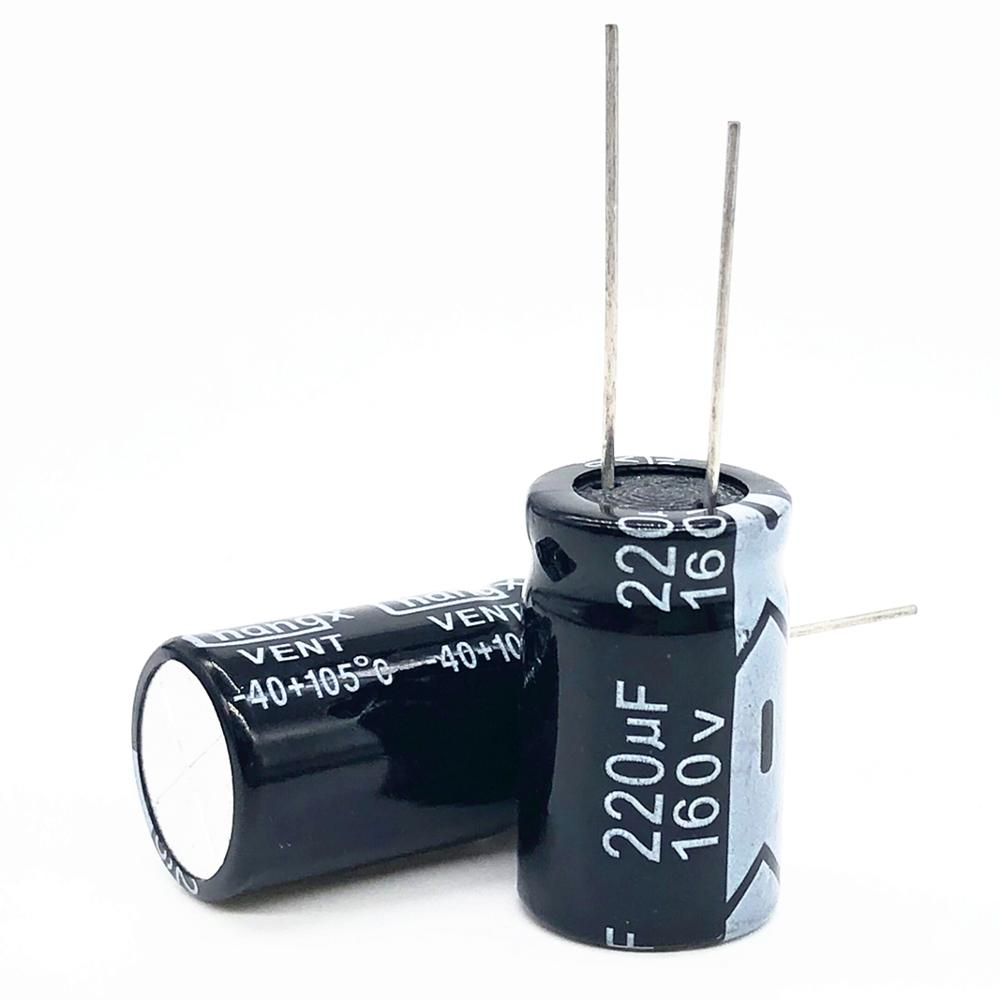5pcs/lot 160V 220UF 16*26 20% RADIAL Aluminum Electrolytic Capacitor 220000nf