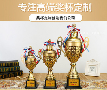 World Cup Premium Metal Trophy Custom Taekwondo Basketball Championship Trophy Make Student and Child Trophy