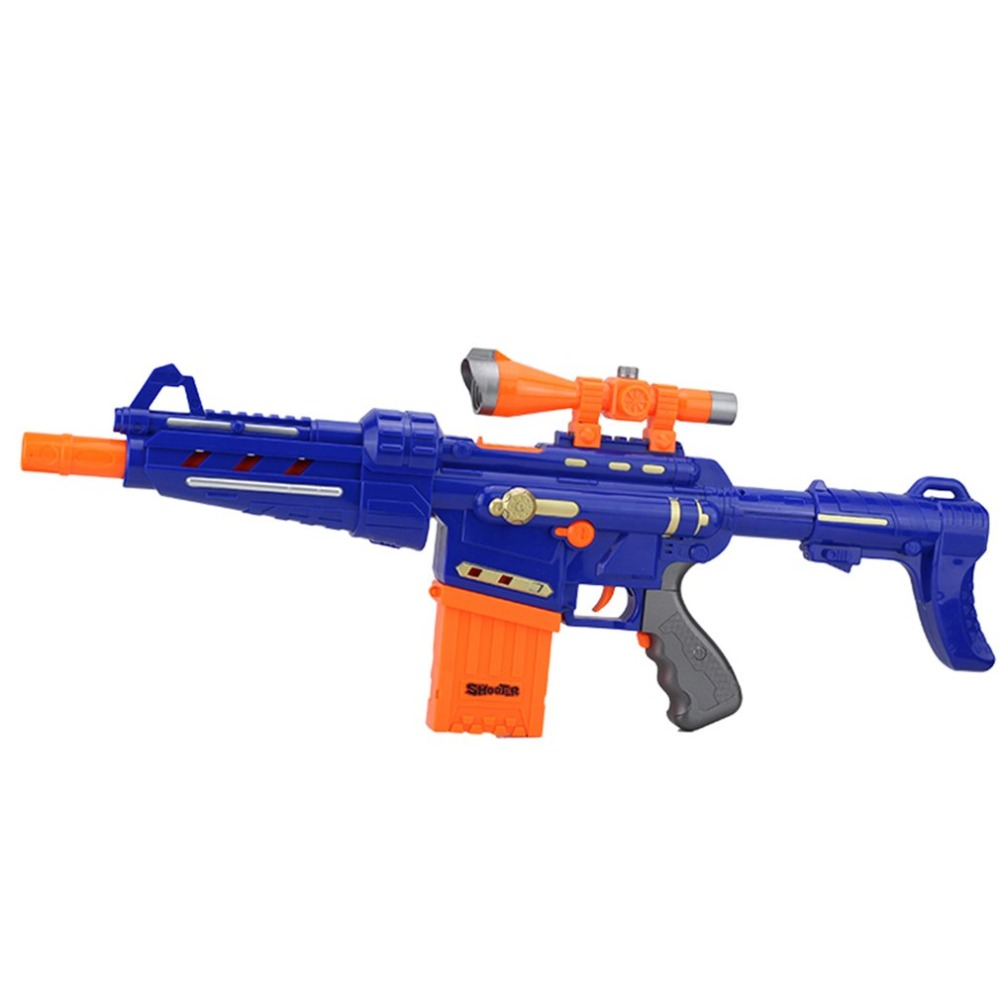 Children Plastic Electric Soft Bullet Gun Toys Serial Shoot Target Toy Suit For Nerf Rifle Boys Funny Gifts Arma Orbeez In Guns From