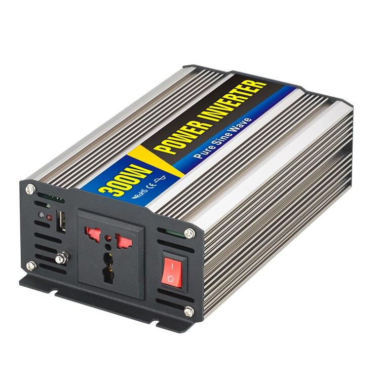 Maylar @ 1 шт. 300 Вт автомобиля Мощность преобразователь DC 12 В к AC 110 В или 220 В чистая синусоида Мощность солнечные инверторы