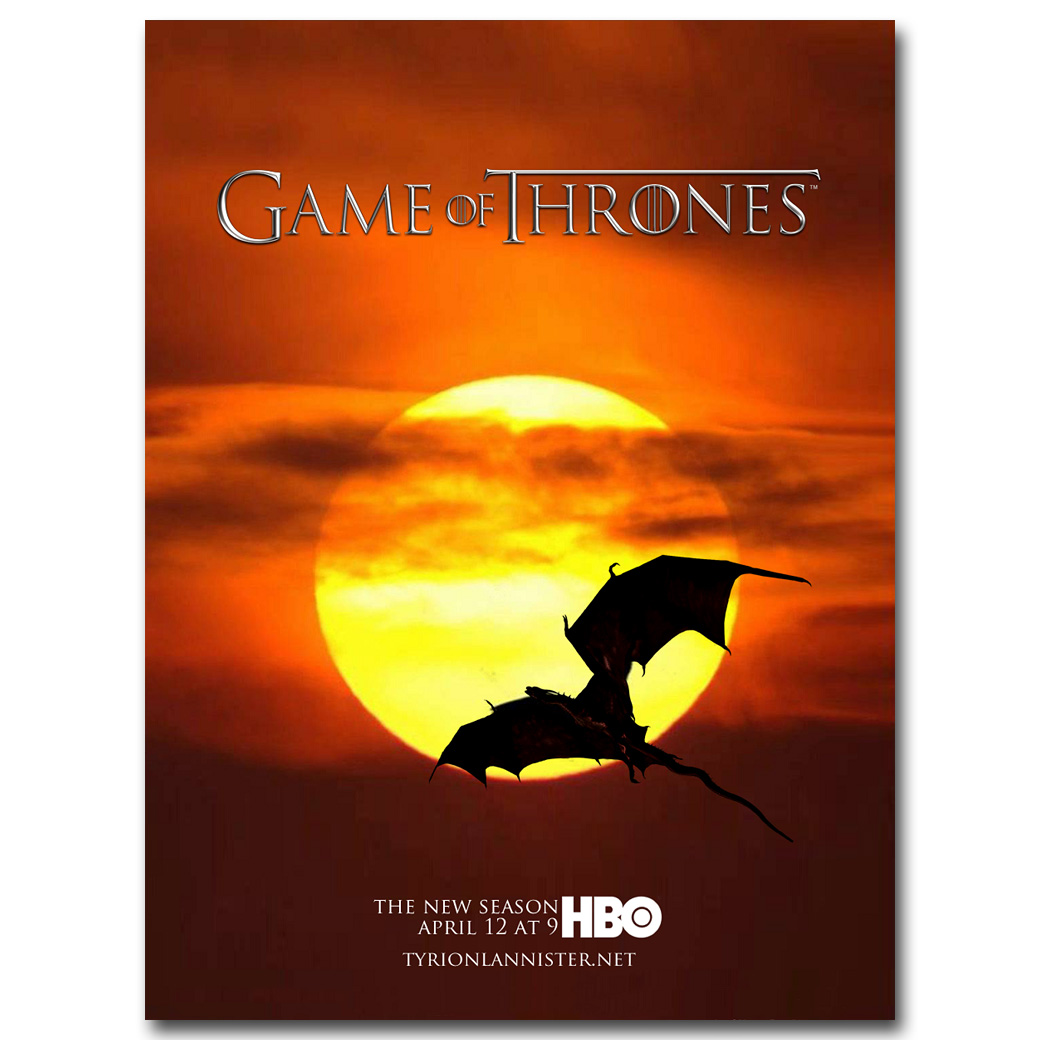 Game Of Thrones TV Shows Art Silk Fabric Poster Print 12x18 24x36 inches 042