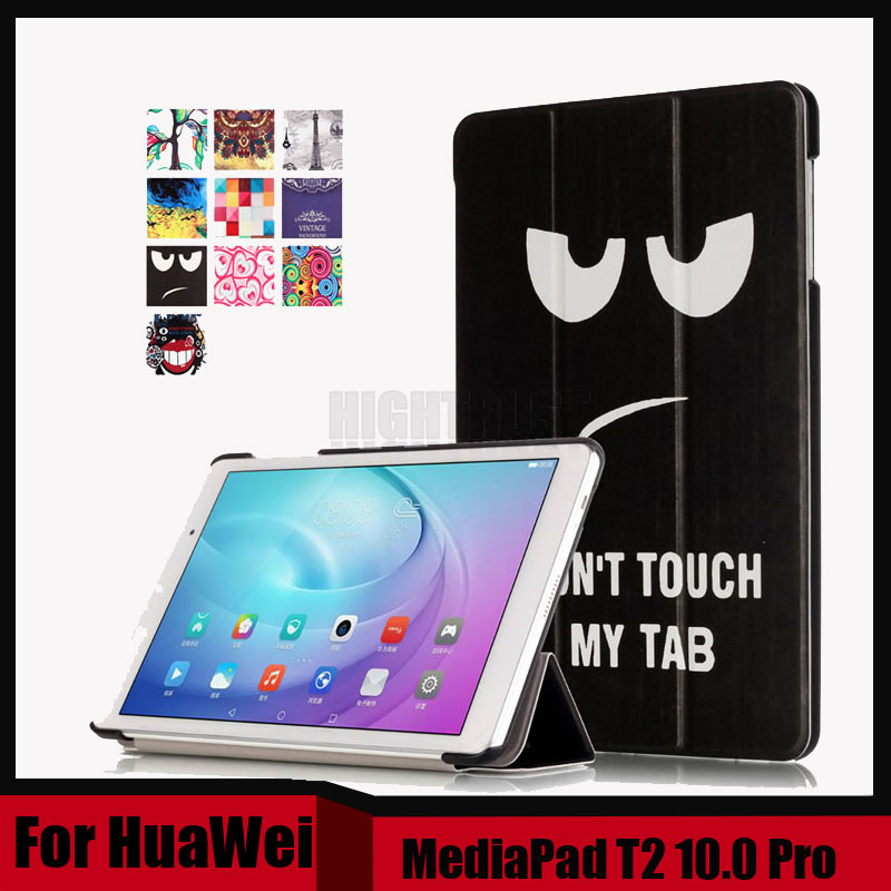 Drawing Pu Leather Stand Case Cover Shield For Huawei MediaPad T2 10 Pro FDR-A01L FDR-A01W FDR-A03L A04L + Screen film as gift luxury pu leather flip case stand cover for huawei mediapad t2 10 0 pro fdr a01l fdr a01w fdr a03l a04l full protection covers