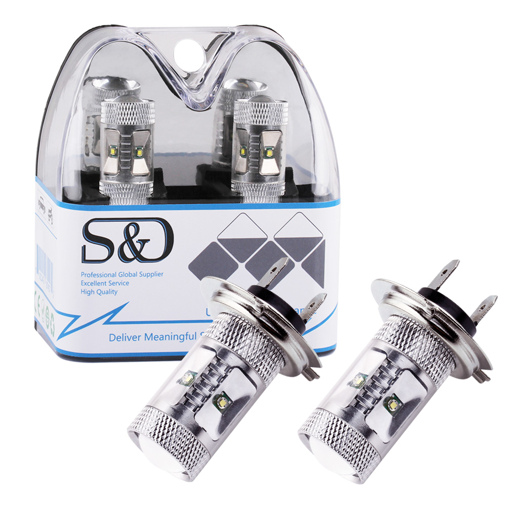 2x High Power Cree LED Chip Light Super White Bulb Car Fog Lamp H3 H4 H7 H16 3156 3157 9005 HB3 9006 HB4 T10 W5W 1156 Ba15s D050 3156 12w 600lm osram 4 smd 7060 led white light car bulb dc 12v