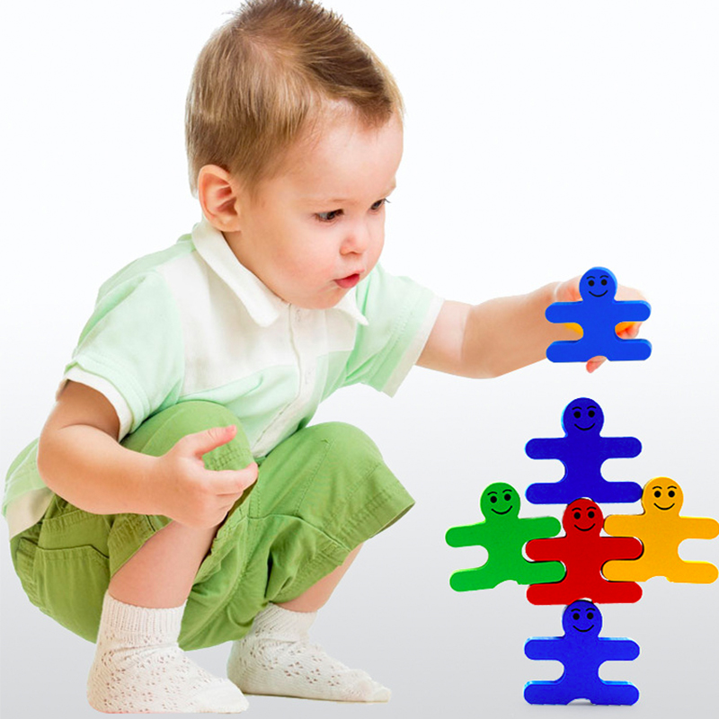 Baby Wooden Toys blocks balance game building block Early Educational brick toys table g ...