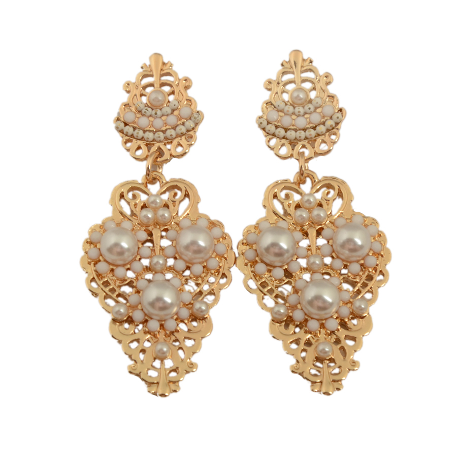 New Fashion Beautiful Rhinestone Temperament Type Pearl ...